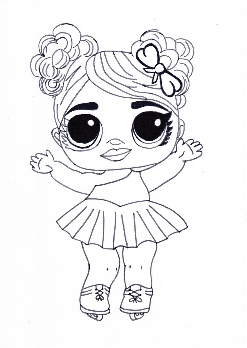 Куклы ЛОЛ (LOL) - раскраски для девочек распечатать бесплатно | 1200x851