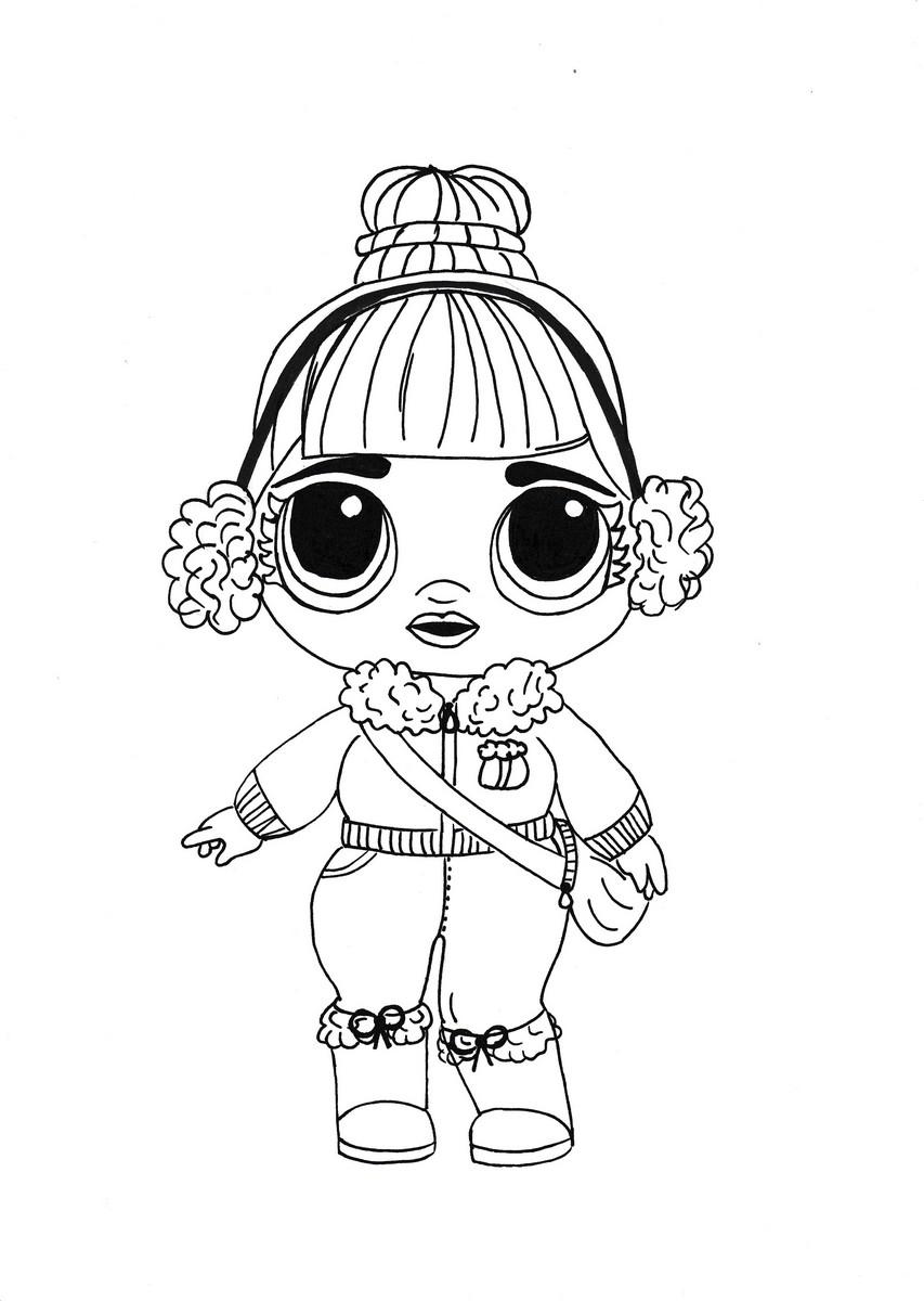 Раскраски куклы ЛОЛ распечатать бесплатно: 100 картинок (2019 ... | 1200x853
