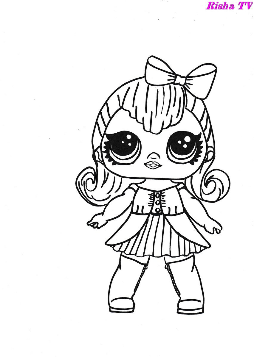 раскраски для девочек куклы лол модели от Risha Tv